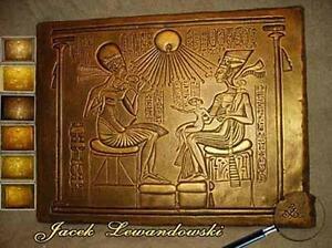 bas relief gyptien nefretete echnaton egipt sculpture. Black Bedroom Furniture Sets. Home Design Ideas
