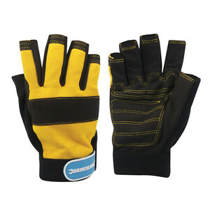Synthetic leather Fingerless Mechanics Gloves -Medium M hand protection safety
