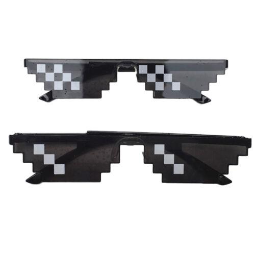 EG/_Weihnachtsgeschenk Herren Damen Thug Life Sonnenbrille VERPIXELTE Mosaik