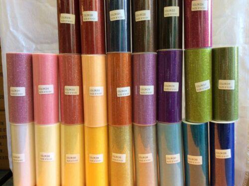 """Tutu paillettes tulle Rouleau 6/"""" X 10 Y Choisissez Tout 12 Couleurs Soft Craft Tissu."""