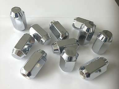 "20 NEW BUICK RIM CHROME WHEEL ACORN LUG NUTS 1//2/""-20 RHT 13//16 HEX NOS"
