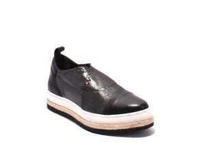 b158533097e Laura Bellariva 8004 Black Leather Gray Mesh Pointy Slip-On Shoes 39 ...
