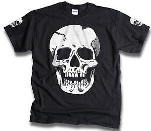 Big-Skull-With-Sleeve-Prints-Mens-Biker-Goth-T-Shirt-Sm-3XL