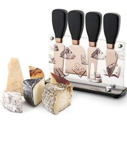 Hecef Cheese Knife Gift Set 5PC Stainless Steel Fork, Shovel,...