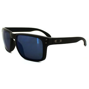 c498ec9be3 Image is loading Oakley-Sunglasses-Holbrook-OO9102-52-Matte-Black-Ice-
