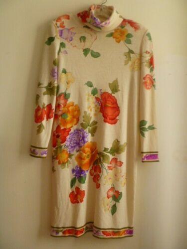 Leonard of Paris Vintage Long Sleeves Floral Print