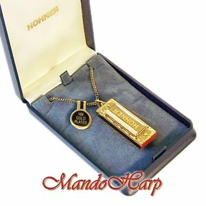 Hohner-Miniature-Harmonica-110-Gold-Little-Lady-NEW