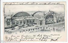 Gruss aus Frankfurt am Main AK 1899 Hauptbahnhof Tram Hessen 1601266