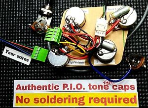 Solderless Installation Wiring Harness For Your Imported Lp Sg Or Dot Style Axe Ebay