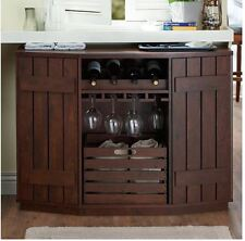 Exceptional Liquor Storage Cabinet Home Bar Furniture Mini Buffet Table Wine Rack  Server New