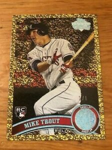 2011-Topps-Update-MIKE-TROUT-US175-Angels-Rookie-Reprint-1-1-Gold-Diamond-Mint