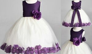 fdede9b4e7f Fall Wedding Rose Petal Birthday Flower Girl Dress Bridesmaid ...