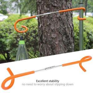 Outdoor Camping Hunting Fishing Gaslight Tent Pole Post 2way Lantern Hanger Hook