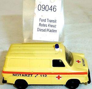 Croix-rouge-ambulance-ford-transit-diesel-Mesureur-EUROMODELL-09046-h0-1-87-OVP-ho1-a