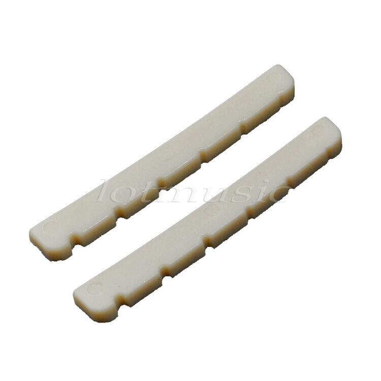 2pcs plastic slotted guitar nut for 6 string electric guitar fit fender guitar ebay. Black Bedroom Furniture Sets. Home Design Ideas