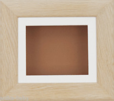 New Solid Oak Deep Box Display Frame 2D 3D Art Baby Casts Medals Crafts Objects