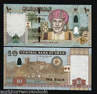 OMAN 10 RIALS NEW 2012 40th *COMMEMORATIVE* POLYMER HYBRID SULTAN UNC CURRENCY