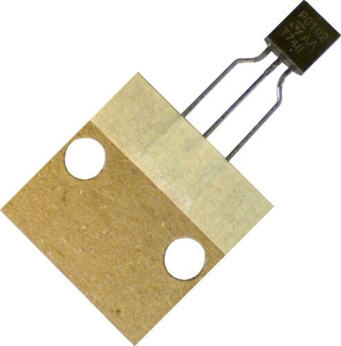 Lot of 5 STMicroelectronics SCR P0102 100V 800mA TO92