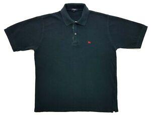 Vintage Burberry London Plaid Collared Polo Black Size L Mens Shirt