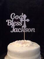 Personalized Baptism Cake Topper, Any Name, Handmade Cake Topper, Cross Decor