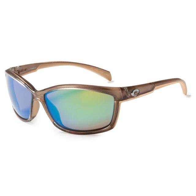 94d58eb204b Costa Del Mar Manta Sunglasses Crystal Bronze Green Mirror 400g Polarized  Glass