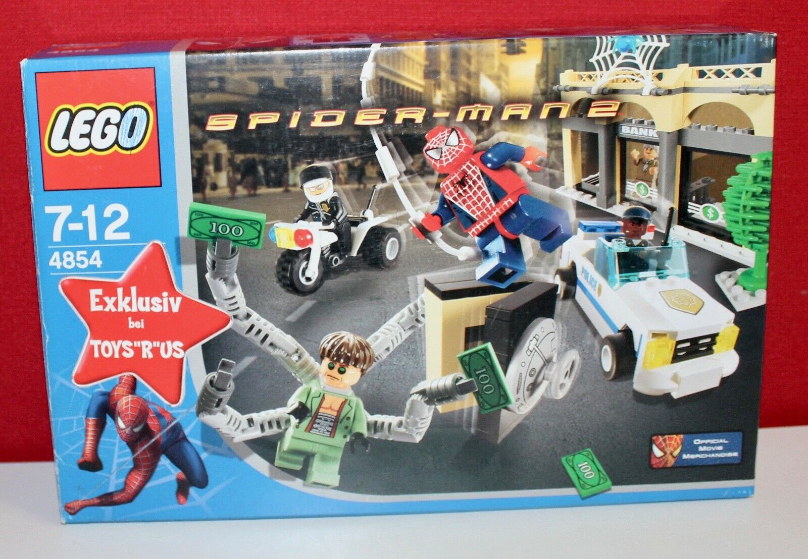 Lego Spiderman 4854 Doc Ock's Bank Robbery, OVP, OBA, BOX, TOP