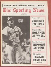 8-12-67 SPORTING NEWS ATLANTA BRAVES JOE TORRE ON COVER AND INSIDE BASEBALL