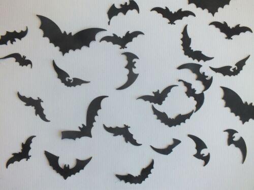 2 juegos de pequeñas Bat formas troqueladas Negro Tarjeta Variedad De Diseños silueta Hallow