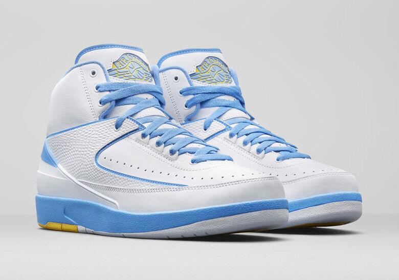 2018 Nike Blue Air Jordan 2 II Retro Melo White Blue Nike Size 7. 385475-122 55d1dd