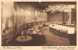 Omaha-Nebraska-Hotel-Blackstone-Cottonwood-Room-Cocktail-Lounge-Bar-1949-Sepia