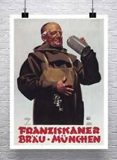 1935 Vintage Drink Advertising Poster Giclee Canvas Print 20x26 Austrian Coffee