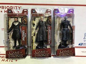 Night King Daenerys Targaryen Action Figures Lot of 3 Game of Thrones Jon Snow