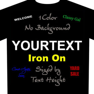 fa0d9bba4 Build Your Text Iron On Custom Heat Transfer Vinyl Buy 2 or More 10 ...