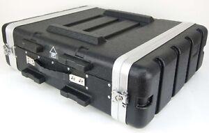 3 HE Double Door Hartschlenrack Flightcase KR-19, 3HE ABS Kunststoffrack schwarz
