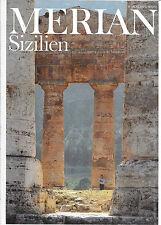 Merian Sizilien August 1988/ Heft 8/ 41. Jahrgang Marsala Äolus Belpasso Barock