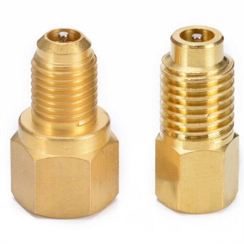 R134 to R12 R12 to R134a Brass Heavy Duty Recovery Tank Vacuum Pump Adapter Set