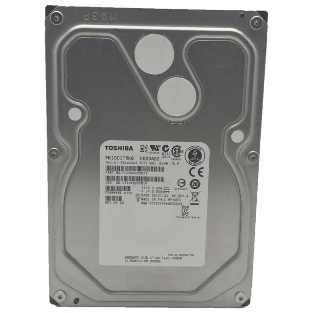 Toshiba 1TB, Intern, 7200 U/Min, SAS 6Gb/S 8.9cm MK1001TRKB Desktop HDD SAS
