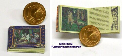 Puppenhaus 1104# Rotkäppchen Puppenstube M 1zu12 Miniatur Kinderbuch
