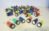 50 Flashlight Keychains Mini Bulb Flash Lights Key Chain Rings Party Favors