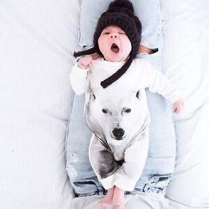 Newborn Baby Boy Girl Infant Outfits Polar Bear Romper Jumpsuit