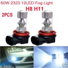 2PCS 6000K H8 H11 High Power CREE LED Fog Driving Light Canbus 60W Lamp Bulb Hot