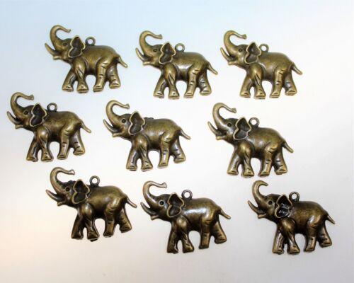 Charm Elefant Elefantenanhänger aus Messing