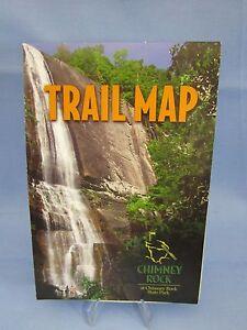State Park Nc Map.Chimney Rock North Carolina Souvenir Trail Map State Park N C