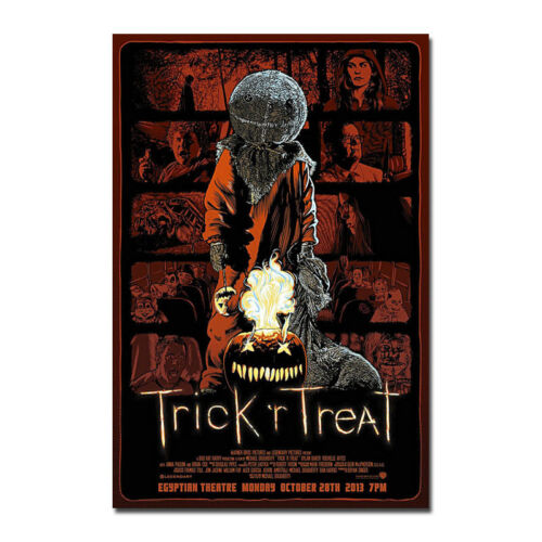 TRICK R/' TREAT Horror Sam Halloween Movie Art Silk Poster 12x18 24x36inch 005