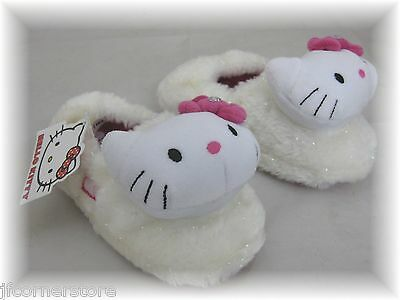 CLEARANCE KITTY WHITE/SILVER SLIPPERS BRAND NEW SIZES