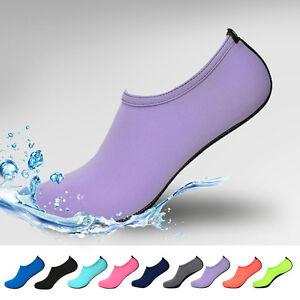 New Mens Womens Water Shoes Aqua Shoes Socks Pool Beach Swim Slip On Surf
