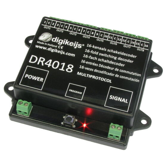 Digikeijs DR4018 16 Channel Turnout Switch Decoder  ~ Works With All DCC Brands!