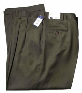 Austin Reed Dress Pants Brown Wool Pleated Men S Size 52 X 32 Ebay