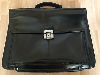 Aktentasche Schwarz Glänzend, 41x30x10cm Verbraucher Zuerst