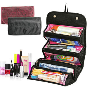 5d5ec24d1d Roll Up Cosmetic Makeup Case Travel Hanging Toiletry Bag Wash Holder ...
